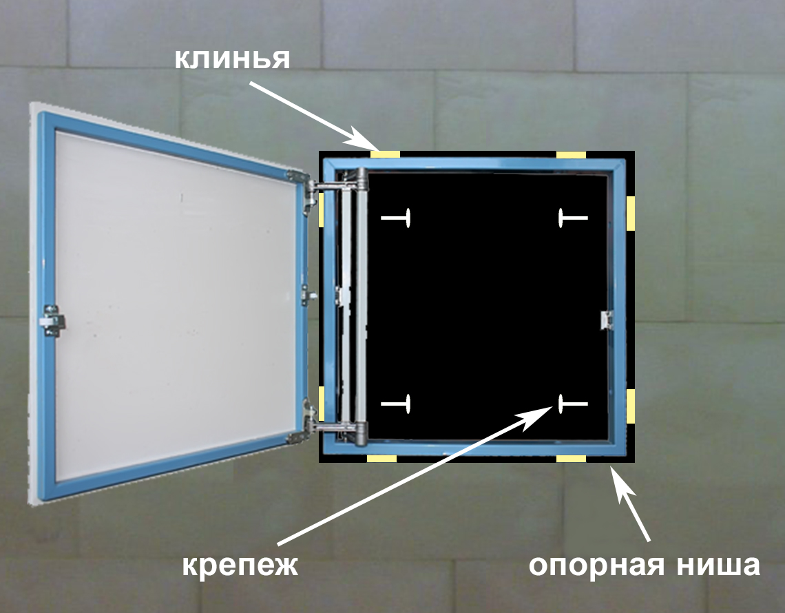Auditing sanitary hatches for the bathroom and toilet: types, rules of placement, mounting features 87