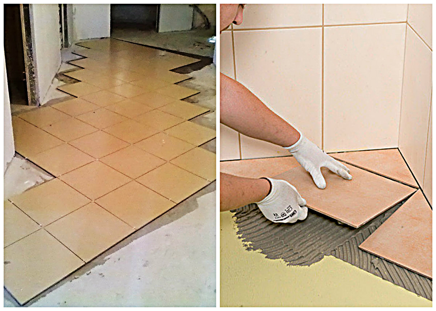 Tile laying technology 8